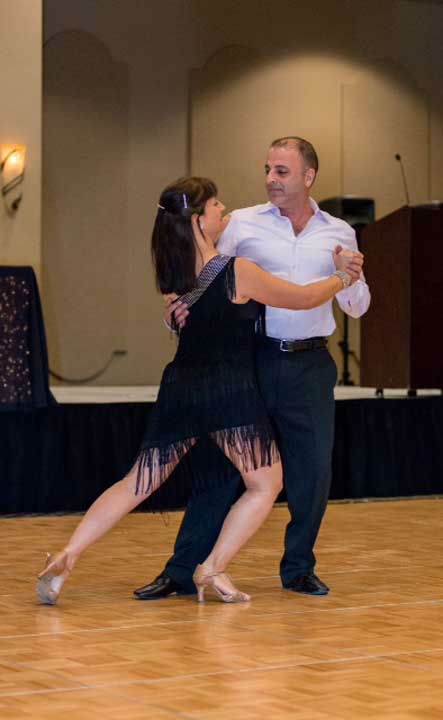 Owner of Sorrell Urban Bistro Ray Salti and his partner, Martha Cockrell of Dancing with Martha, at the Halo House Foundation&#39;s 2013 &#39;Houston Stars: Dancing for a Cause&#39; gala on October 12  <span class=meta>(Photo&#47;Killy Photography)</span>