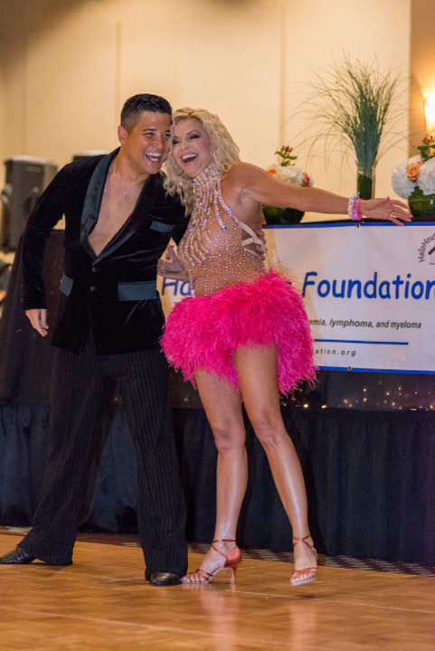 Galveston Chamber of Commerce President Gina Spagnola and her partner, Kevin Prothro of Fred Astaire River Oaks, at the Halo House Foundation&#39;s 2013 &#39;Houston Stars: Dancing for a Cause&#39; gala on October 12  <span class=meta>(Photo&#47;Killy Photography)</span>
