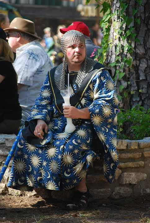 "<div class=""meta ""><span class=""caption-text "">Magical fantasies come to life as wizards, elves and faeries enchant the streets of New Market Village spreading joy throughout the shire during 1001 Dreams weekend at the Texas Renaissance Festival.   Enchanting celebrations and amusements  can be found at the unique festival running weekends until November 27, 2011.  A variety of themed weekends highlight the festival, complete with food for all tastes, jousting competitions, comedians, dancers, musicians and fun for all ages. (KTRK Photo)</span></div>"
