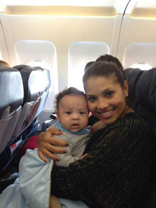 Deals host Kat Cosley posted this photo of her and son Frankie Jr. on the Deals Facebook page. Frankie Jr. did great on his first plane ride, she said. Frankie Jr. was born June 4, 2013 <span class=meta>(Facebook.com&#47;dealsTV)</span>