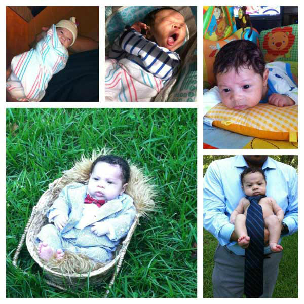 A photo collage of Kat Cosley&#39;s son, Frankie Jr., who was born June 4, 2013 <span class=meta>(Facebook.com&#47;dealsTV)</span>