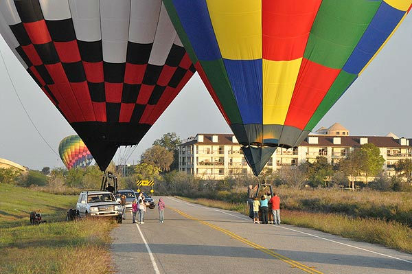 "<div class=""meta ""><span class=""caption-text "">A unique weekend of fun as the annual Ballunar Liftoff was held at NASA's Johnson Space Center on October 21-23, 2011.  More than 80 hot air balloons, skydivers, hang gliders and aerial acrobats took place at the festival, celebrating mankind's fascination with flight. (KTRK Photo)</span></div>"