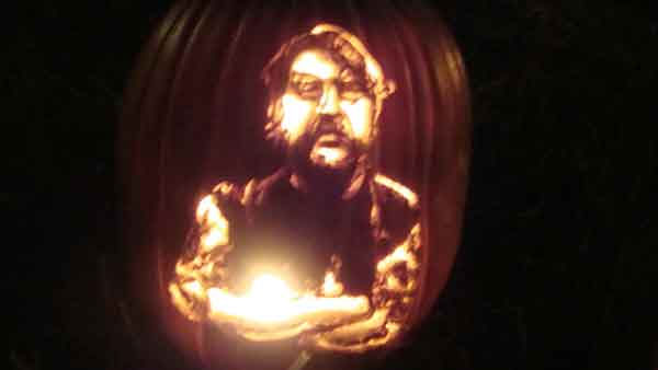 Marsha Roberts has been carving celebrity pumpkins for this Halloween. So far, she has carved 16 but plans to make a dozen more before Halloween. The Missouri City resident has a large display of them in her yard. This one depicts Capt. Phil Harris. <span class=meta>(Photo&#47;Marsha Roberts)</span>