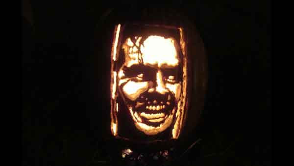 "<div class=""meta ""><span class=""caption-text "">Marsha Roberts has been carving celebrity pumpkins for this Halloween. So far, she has carved 16 but plans to make a dozen more before Halloween. The Missouri City resident has a large display of them in her yard. This one depicts Jack Torrance. (Photo/Marsha Roberts)</span></div>"