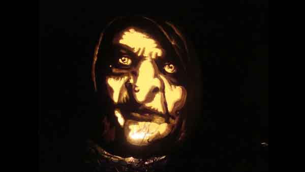 "<div class=""meta ""><span class=""caption-text "">Marsha Roberts has been carving celebrity pumpkins for this Halloween. So far, she has carved 16 but plans to make a dozen more before Halloween. The Missouri City resident has a large display of them in her yard. This one depicts the Bell Witch. (Photo/Marsha Roberts)</span></div>"