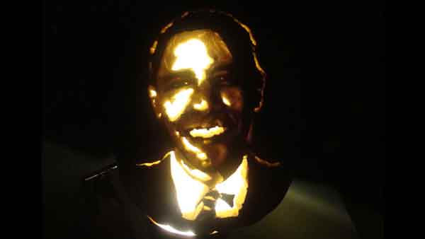 Marsha Roberts has been carving celebrity pumpkins for this Halloween. So far, she has carved 16 but plans to make a dozen more before Halloween. The Missouri City resident has a large display of them in her yard. This one depicts President Barack Obama. <span class=meta>(Photo&#47;Marsha Roberts)</span>