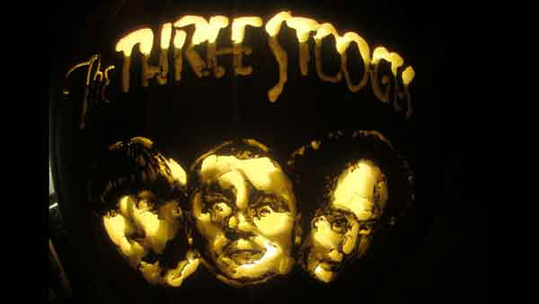 Marsha Roberts has been carving celebrity pumpkins for this Halloween. So far, she has carved 16 but plans to make a dozen more before Halloween. The Missouri City resident has a large display of them in her yard. This one depicts The Three Stooges. <span class=meta>(Photo&#47;Marsha Roberts)</span>