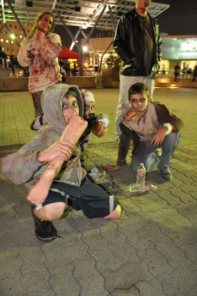 Hundreds of Halloween revelers convened at Jones Plaza on Oct. 27 for the 2nd annual Houston Zombie Walk for charity <span class=meta>(KTRK Photo&#47; Mike O&#39;Neill)</span>