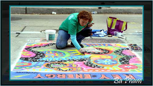 The Via Colori street painting festival brought together more than 200 artists to make over downtown Houston in an effort to raise money for The Center for Hearing and Speech. These photos were submitted to ABC13 through our iWitness Reports. Were you there? Send your pics to news@abc13.com! <span class=meta>(Photo&#47;BAPHAM)</span>