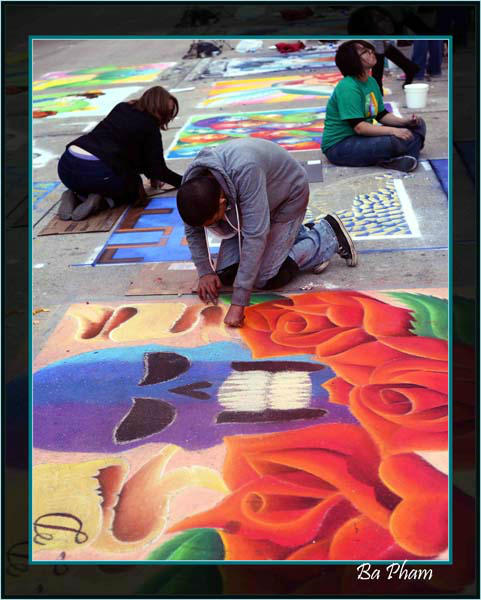 "<div class=""meta image-caption""><div class=""origin-logo origin-image ""><span></span></div><span class=""caption-text"">The Via Colori street painting festival brought together more than 200 artists to make over downtown Houston in an effort to raise money for The Center for Hearing and Speech. These photos were submitted to ABC13 through our iWitness Reports. Were you there? Send your pics to news@abc13.com! (Photo/BAPHAM)</span></div>"