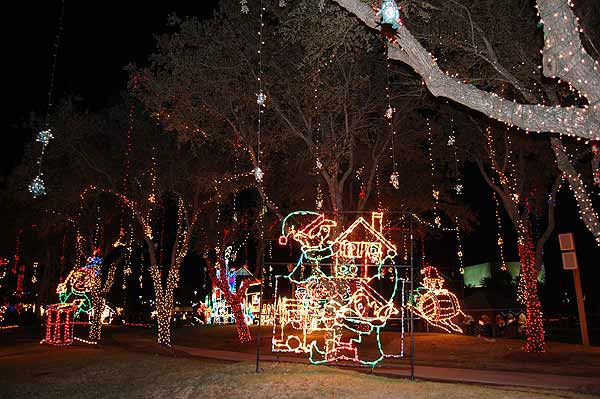 "<div class=""meta ""><span class=""caption-text "">The Festival of Lights at Galveston's Moody Gardens has become a holiday tradition for many. Visitors can enjoy over 100 sound-enhanced animated light displays and nightly live entertainment, and glide across the ice at the outdoor ice skating rink.  The display is open 6-10pm on weekends November 19 - December 12, 2010, and nightly from December 16, 2010 - January 1, 2011. (KTRK Photo)</span></div>"