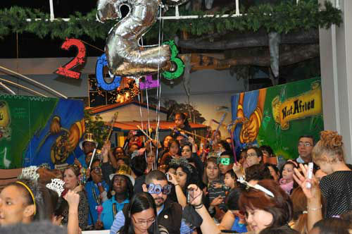 At the Children&#39;s Museum of Houston, kids counted down and watched the 2013 ball drop -- at noon! <span class=meta>(KTRK Photo)</span>