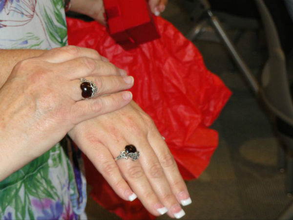 Michael Nall&#39;s wife bought matching rings for herself and Shannon Lenox. The ring design represents Nall&#39;s heart cradling Lenox&#39;s son Roy&#39;s heart <span class=meta>(Photo courtesy of Shannon Lenox)</span>