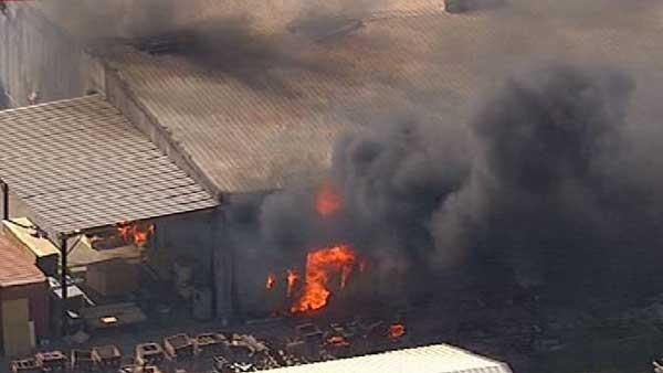 Massive fire burns at NW Harris Co. warehouse