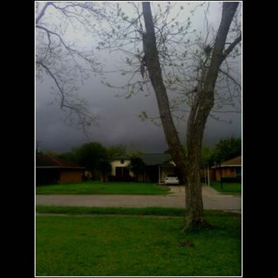 These are photos sent to us from viewers who snapped photos of storms around the Houston area Monday, April 2.  If you capture photos of weather, email them to us at news@abc13.com.