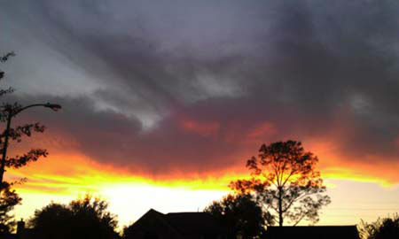 These are some of the photos you sent us of tonight&#39;s beautiful sunset across the Houston area.  More are here.   Send your sunset photos to us at news@abc13.com. <span class=meta>(Photo&#47;iWitness reports)</span>