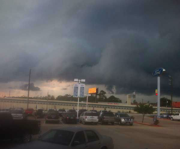 These are some of the photos you've been sending in of the severe weather that moved through southeast Texas Friday, August 16, 2013.  More storm photos are on iWitness.abc13.com.  If you have photos or videos from the storms, email them to us at news@abc13.com