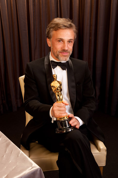 "<div class=""meta ""><span class=""caption-text "">Christoph Waltz won his first Oscar in 2010 for his work in 'Inglourious Basterds' as Nazi Officer Hans Landa. He is the first Spanish actor to be nominated and awarded an Academy Award. He is the second actor to win an Oscar for playing a Nazi. Kate Winslet was the first in 2008's 'The Reader.' He is also the only actor to win for a Quentin Tarantino film. (Todd Wawrychuk / A.M.P.A.S.)</span></div>"