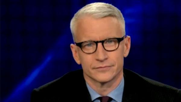 Anderson Cooper shows off new glasses during an interview with Kathy Griffin on December 29, 2010. - Provided courtesy of CNN