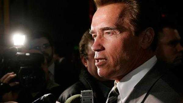 Gov. Schwarzenegger talking - Provided courtesy of KABC / Rich Pedroncelli