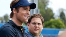 Brad Pitt and Jonah Hill in a scene from the 2011 film, Moneyball. - Provided courtesy of Courtesy of Columbia TriStar Marketing Group, Inc. / Melinda Sue Gordon