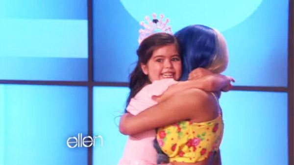 Nicky Minaj and Sophia Grace appear in a still from an episode of Ellen, which aired on October 11, 2011. - Provided courtesy of Warner Bros.