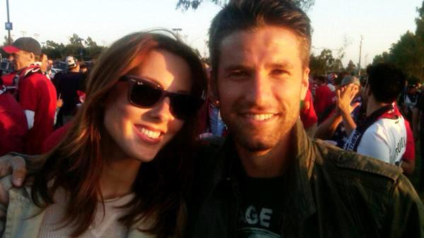 Eva Amurri and Kyle Martino appear in a photo posted on Martino's official Twitter account on September 2, 2011.