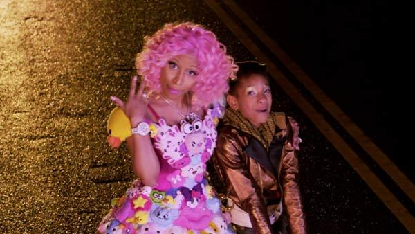 Willow Smith and Nicki Minaj appear in a still from Smiths Fireball music video. - Provided courtesy of 2011 Roc Nation, LLC