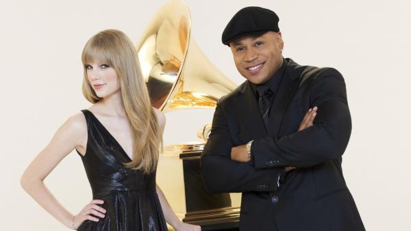 Taylor Swift and LL Cool J appear in a promo for the 2012 Grammy Awards. - Provided courtesy of CBS