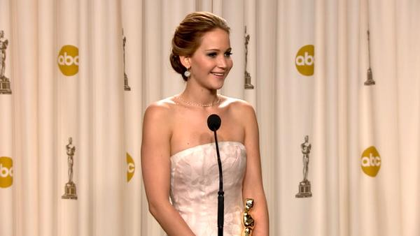 OTRC: Jennifer Lawrence Oscars backstage speech