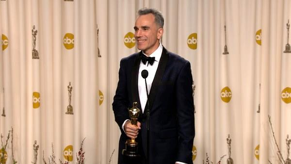 Daniel Day-Lewis Oscars backstage speech