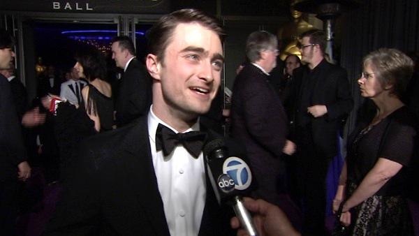 Daniel Radcliffe talks at the Governors Ball