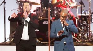 Robin Thicke, left, and T.I. perform Blurred Lines at the Grammy Nominations Concert Live! on Friday, Dec. 6, 2013, at the Nokia Theatre L.A. Live in Los Angeles. - Provided courtesy of AP / Matt Sayles/Invision/AP