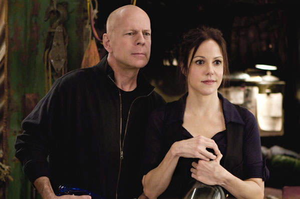 Bruce Willis turns 57 on March 19, 2012.  The actor is known for films such as &#39;Pulp Fiction,&#39; &#39;The Sixth Sense,&#39;  &#39;Sin City&#39; and &#39;Red.&#39;   &#40;Pictured: Bruce Willis is pictured in a scene with Mary-Louise Parker in the 2010 film, &#39;Red.&#39;&#41; <span class=meta>(Summit Entertainment)</span>