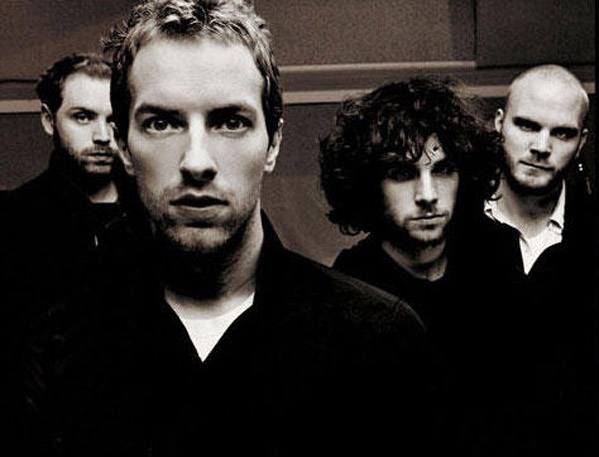(Pictured: Chris Martin (front) appears with his band in a photo from the Coldplay Myspace page.)
