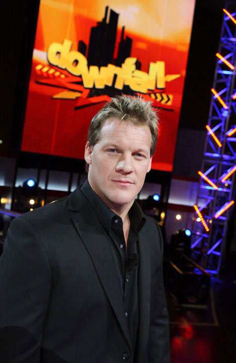 Chris Jericho appears in a promotional photo from his ABC game show, 'Downfall.'