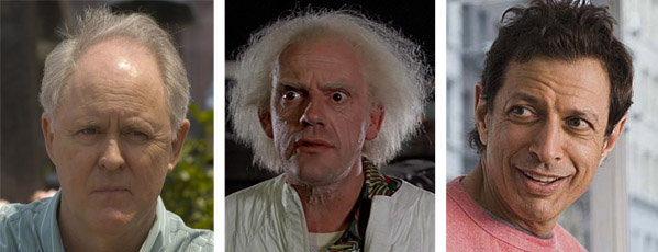 John Lithgow (left) appears in a scene from Showtime's television series 'Dexter.'  Christopher Lloyd (center) appears as Doctor Emmett Brown in 'Back to the Future.'  Jeff Goldblum (right) appears in a scene from the film 'The Switch.'