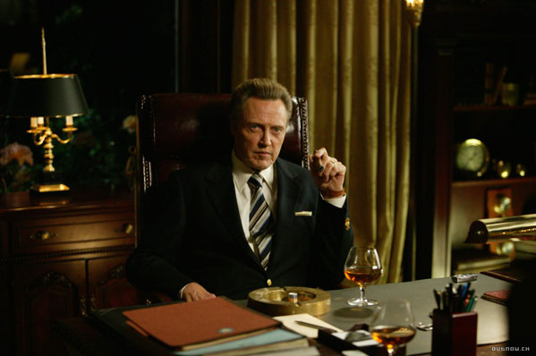 (Pictured: Christopher Walken is pictured in a scene from 'Wedding Crashers.')