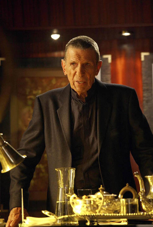 (Pictured: Leonard Nimoy is pictured in a scene from 'Fringe.')