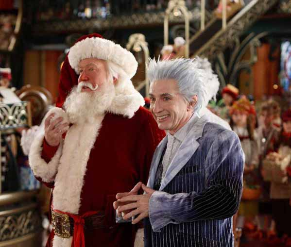 (Pictured: Martin Short (right) is pictured with Tim Allen in a scene from 'The Santa Clause 3: The Escape Clause.')