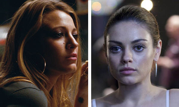 Blake Lively (left) appears in a scene from 'The Town.'  Mila Kunis (right) appears as Lily in 'Black Swan.'