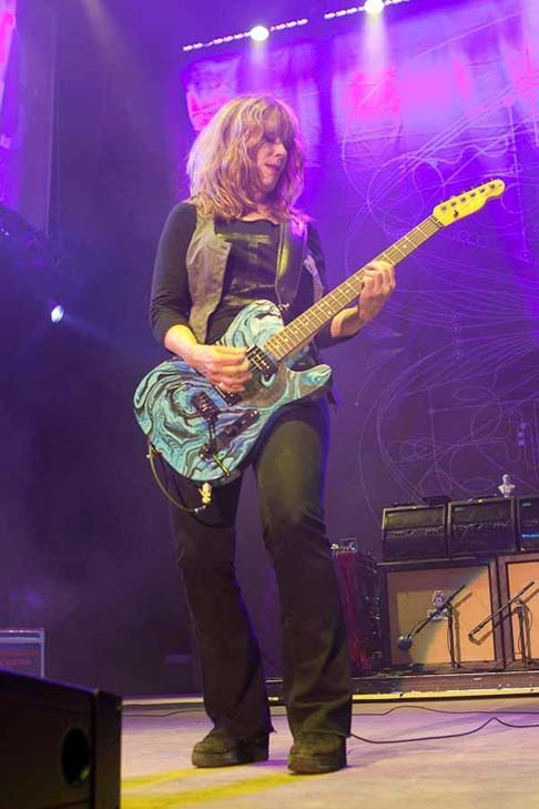 Nancy Wilson turns 58 on March 16, 2012.  The musician is best known as the lead guitarist of rock band Heart.  &#40;Pictured: Nancy Wilson is pictured in 2010 on stage performing at Bay Area Lilith Fair.&#41; <span class=meta>(myspace.com&#47;heart)</span>