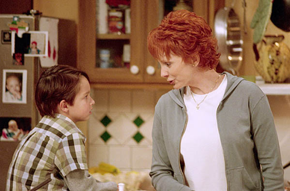 (Pictured: Reba McEntire (right) is pictured in a scene from 'Reba.')