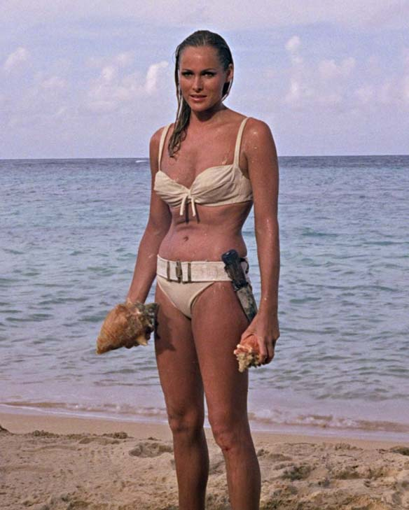 Ursula Andress turns 76 on March 19, 2012.  The actress is known for films such as &#39;Dr. No,&#39; &#39;Casino Royale&#39; and &#39;Clash of the Titans.&#39;  &#40;Pictured: Ursula Andress is pictured in a famous scene from &#39;Dr. No.&#39;&#41; <span class=meta>(Eon Productions)</span>