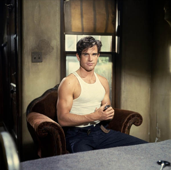 (Pictured: Warren Beatty is pictured in a scene from 'Bonnie and Clyde.')