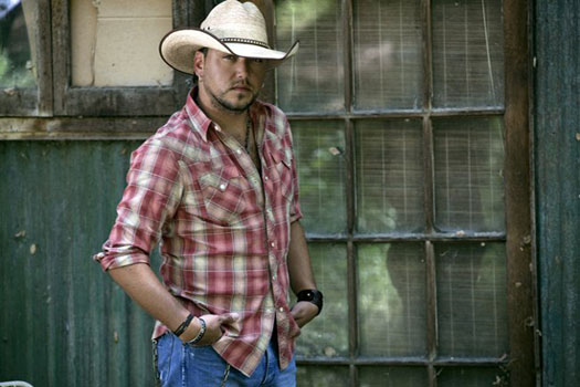 Jason Aldean turns 36 on February 28, 2013. The country singer is known for songs such as &#39;Big Green Tractor,&#39; &#39;She&#39;s Country,&#39; &#39;The Truth&#39; and &#39;Amarillo Sky.&#39; <span class=meta>(facebook.com&#47;jasonaldean)</span>
