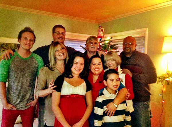 David Anders &#40;left&#41;, who played Dr. Whale on ABC&#39;s &#39;Once Upon a Time&#39; and Sark on &#39;Alias,&#39; shared this photo on Dec. 24, 2012, saying: &#39;Merry Christmas....from my family to yours.&#39; <span class=meta>(twitter.com&#47;QuestionAnders &#47; pic.twitter.com&#47;WuPr2kal)</span>