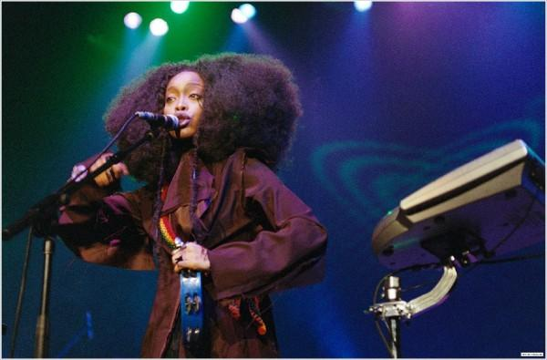 Erykah Badu appears in a photo posted on her MySpace page.