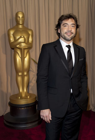 Javier Bardem on the red carpet, 2010.