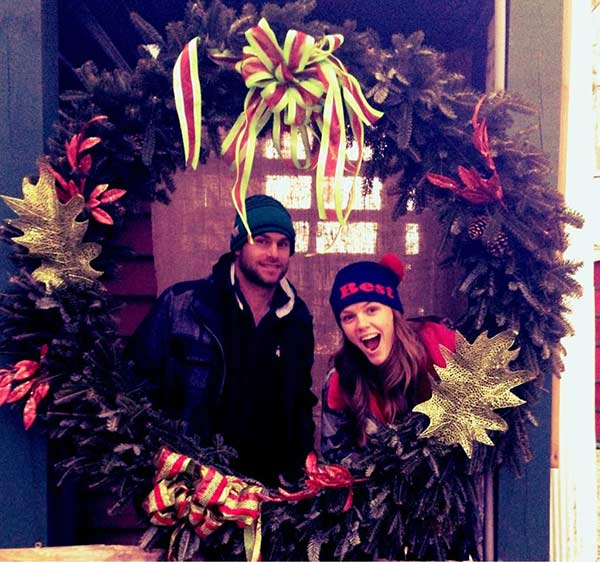 Model and actress Brooklyn Decker shared this photo on Dec. 24, 2012, Tweeting: 'Merry Christmas y'all!'